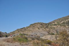 A estrada no Altiplano Imagens de Stock Royalty Free