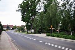 Estrada no campo Imagem de Stock Royalty Free