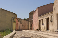 Estrada no centro de uma vila sardo Imagem de Stock