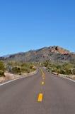 Estrada no deserto do Arizona Foto de Stock Royalty Free