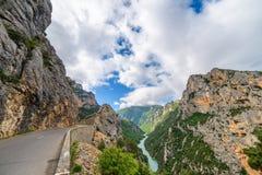 Estrada no desfiladeiro Foto de Stock