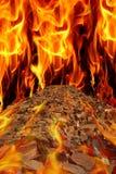 Estrada no fogo Imagens de Stock Royalty Free