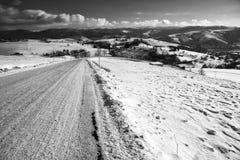 Estrada no inverno Foto de Stock Royalty Free