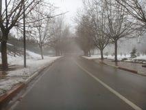 Estrada no inverno fotos de stock royalty free