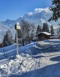 Estrada no inverno Imagens de Stock Royalty Free