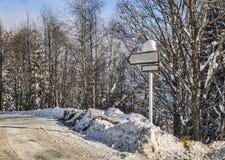 Estrada no inverno Imagens de Stock