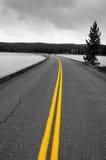 Estrada no lago Yellowstone Imagem de Stock