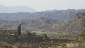 Estrada no meio do deserto video estoque