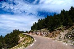 Estrada no Mont-Ventoux Imagem de Stock