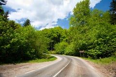 Estrada no montanhas Foto de Stock Royalty Free