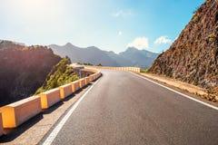 Estrada no parque natural Anaga na ilha de Tenerife Imagem de Stock Royalty Free