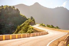 Estrada no parque natural Anaga na ilha de Tenerife Fotografia de Stock