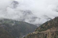 estrada no platô de qinghai tibet Imagens de Stock Royalty Free