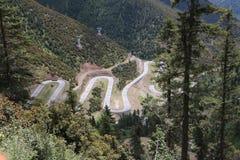 estrada no platô de qinghai tibet Fotografia de Stock