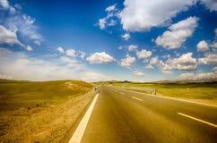 Estrada no platô do tne Fotografia de Stock Royalty Free