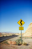 Estrada no vale do parque estadual do fogo Fotos de Stock Royalty Free