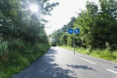 Estrada no Zuidduinen imagens de stock