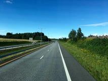 Estrada norueguesa Fotos de Stock Royalty Free