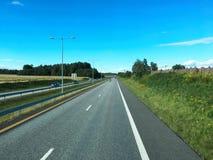 Estrada norueguesa Imagens de Stock Royalty Free