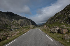 Estrada norueguesa Fotografia de Stock Royalty Free