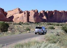 Estrada nos E.U. ocidentais Foto de Stock Royalty Free