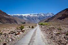 Estrada nos Himalayas Foto de Stock Royalty Free