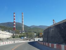 A estrada a Novorossiysk imagens de stock royalty free