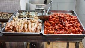 Estrada ocidental de Nanjing do restaurante do alimento de mar Fotos de Stock