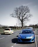 Estrada ocupada com carros Fotos de Stock