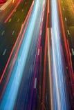 Estrada ocupada da noite Imagem de Stock Royalty Free