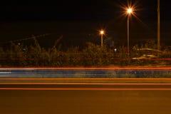 Estrada ocupada da noite Fotos de Stock