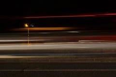 Estrada ocupada da noite Foto de Stock