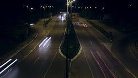 Estrada ocupada - lapso de tempo video estoque
