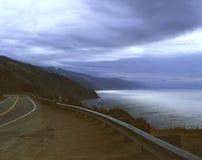 Estrada pacífica - Big Sur Foto de Stock Royalty Free
