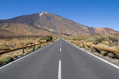 Estrada para montar Teide Fotos de Stock Royalty Free