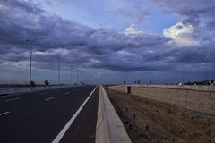 Estrada paralela Fotografia de Stock