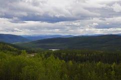 Estrada Peace River de Alaska imagem de stock