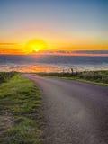 Estrada pelo mar Imagem de Stock Royalty Free