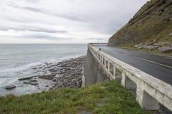 Estrada pelo mar cantábrico Fotografia de Stock