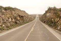 Estrada peruana Fotografia de Stock