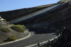 Estrada pitoresca em Tenerife fotografia de stock royalty free