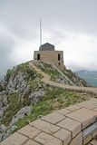Estrada à plataforma da visão na montanha de Lovcen Foto de Stock Royalty Free