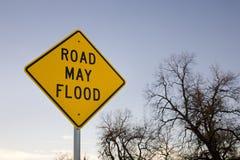 A estrada pode inundar fotografia de stock