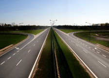 Estrada polonesa Imagens de Stock Royalty Free