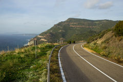 Estrada próximo à costa de mar Fotografia de Stock Royalty Free