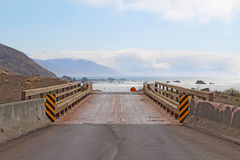 Estrada à praia na costa perdida de Califórnia Fotos de Stock