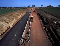 Estrada principal sob a construção Foto de Stock Royalty Free