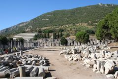 Estrada que conduz ao estádio de Ephesus Imagens de Stock