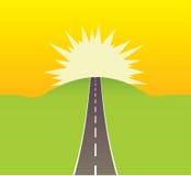 Estrada que conduz ao sol Foto de Stock