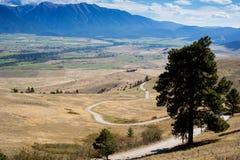Estrada que enrola para baixo a montanha Fotos de Stock